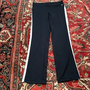 Nike flare track pants striped drawstring waist
